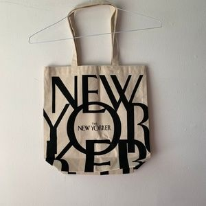 The New Yorker Iconic Canvas Book Bag Tote